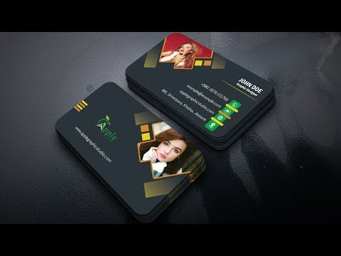 How to Create Modern Business Cards - Photoshop Tutorial