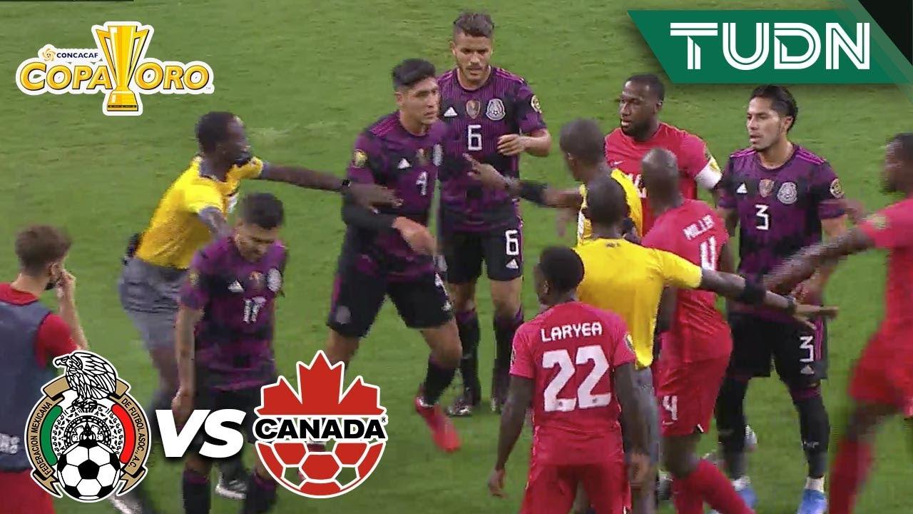 ¡SE CALIENTAN! Ya hay bronca en la cancha | México 0-0 Canadá | Copa Oro 2021 - Semifinal | TUDN