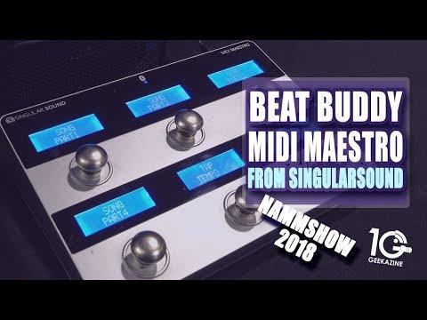 BeatBuddy adds MIDI Maestro pedalboard from Singular Sound