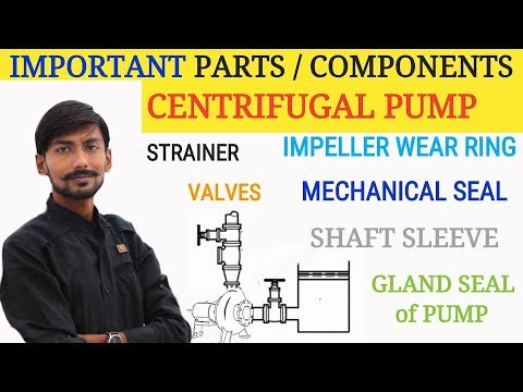 GENERAL PARTS/COMPONENTS 0F CENTRIFUGAL PUMP | MECHANICAL SEAL, GLAND SEAL,  SHAFT SLEEVE etc.
