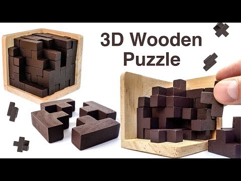 3D Wooden Brain Teaser Puzzle by Sharp Brain Zone. Educational for Kids and Adults. Let's Play Kids.