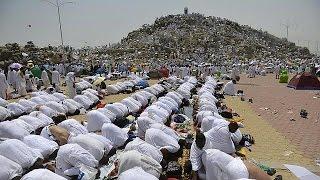 Muslim pilgrims gather at Mount Arafat for Hajj