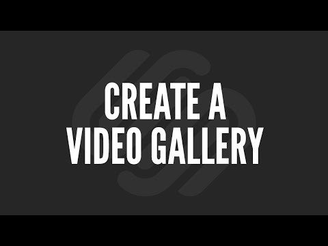 Squarespace Tutorial: Create a Video Gallery