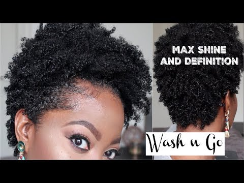 WASH n Go: Type 4 Short &Tapered Natural Hair: Max Definition & Shine with Eco Styler Gel