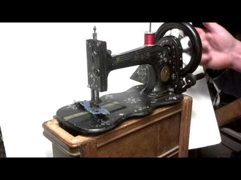 Ornate Gilt and Mother of Pearl Antique 1871 Singer 12 12k Treadle Sewing Machine 733853