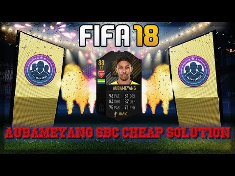 FIFA 18 Pierre Emerick Aubameyang SBC Solution
