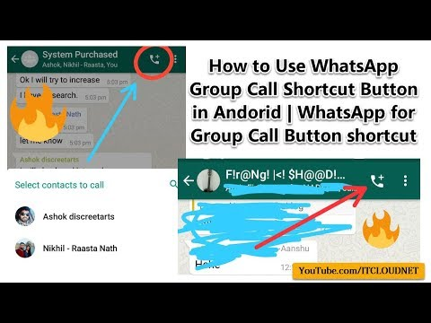 How to Use WhatsApp Group Call Shortcut Button in Andorid | WhatsApp for Group Call Button shortcut