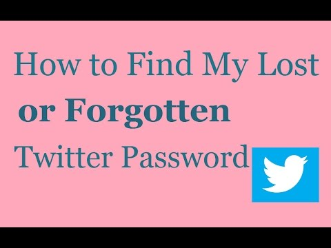 How to Find My Lost or Forgotten Twitter Password | Reset Twitter Password