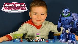 Энгри Бёрдс Трансформеры - игрушки на русском. Angry Birds Transformers Toys. Игрушки для мальчиков.