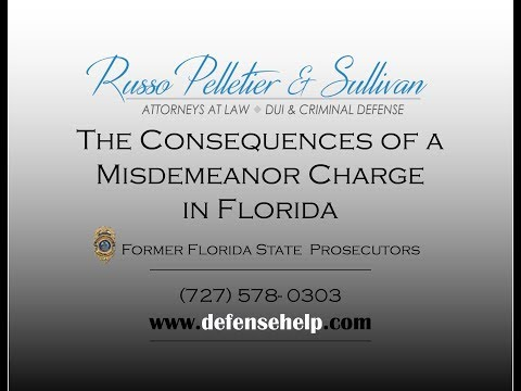 The Consequences of a Misdemeanor Charge in Florida
