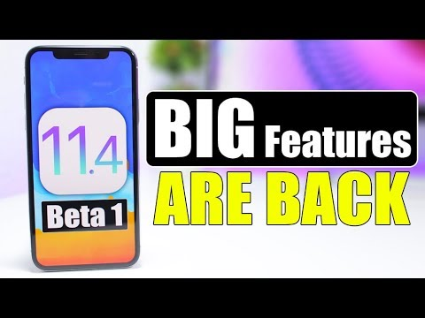 iOS 11.4 Beta 1 - BIG Features Are Back !!!