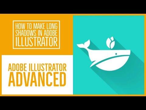 How to make long shadows in Adobe Illustrator - Illustrator Advanced Training [19/53]