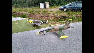 3D printed EL-39, and CMP P-40E, flying at Senja MFK