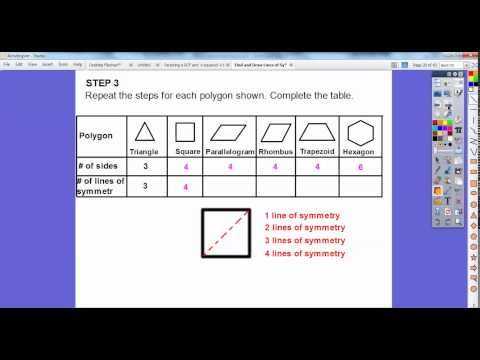 Find and Draw Lines of Symmetry - Lesson 10.6