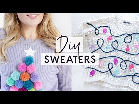 3 DIY Ugly Christmas Sweaters 🎄 Easy and Cheap Christmas Jumpers