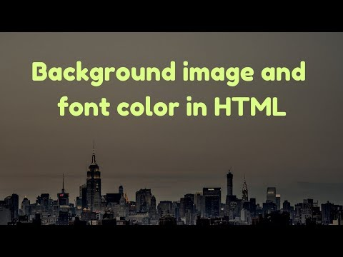 How to change background color and font in Html