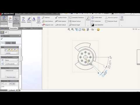 SOLIDWORKS - Angular Running Dimensions