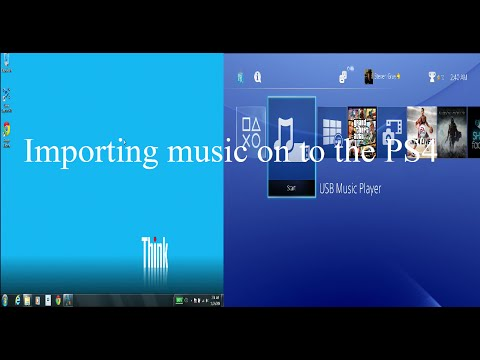 How to Import Music on to the PS4