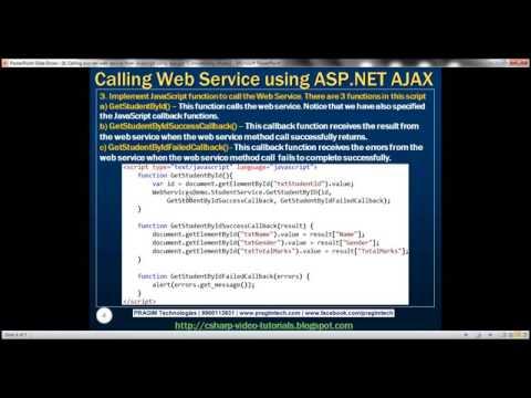 Part 6   Calling asp net web service from javascript using ajax