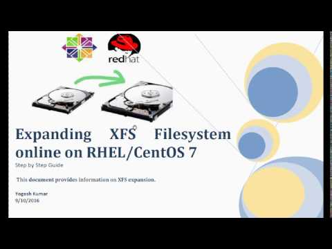 Expanding XFS Filesystem online on RHEL CentOS 7