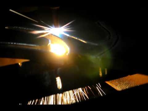 Machine Torch Cutting 1 inch thick steel plate