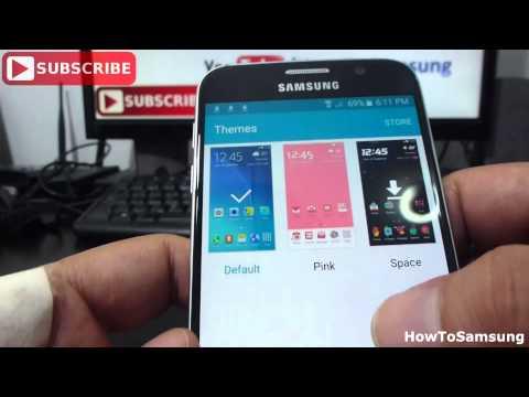 how to change theme on Samsung Galaxy S6 Basic Tutorials