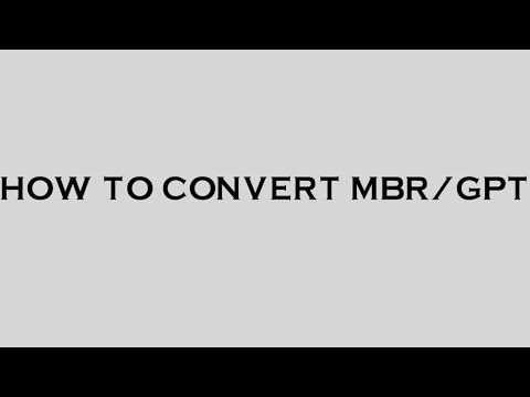 How to convert  GPT or MBR without data loss in tamil