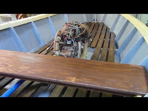 151 Installing Floor and Seat in a Homemade Wooden Boat