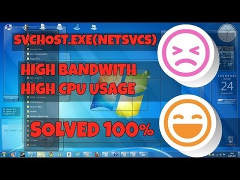 How to Stop svchost.exe ,netsvcs 100% for Windows10  High BANDWITH CPU 2017