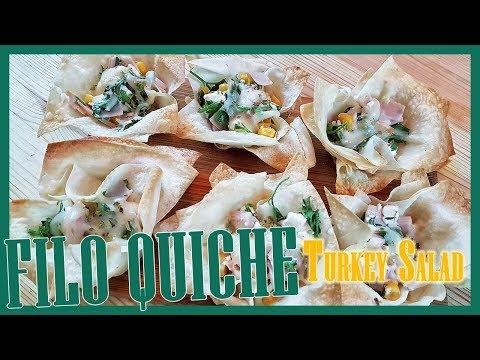 How to Make Mini Filo Quiche with Turkey Salad | Mini Filo Quiche Recipe