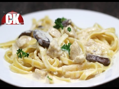 Fettuccine Alfredo with Chicken - Chef Kendra's Easy Cooking!
