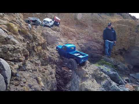 Santa Cruz group rc crawl at Pigeon Point, Ca