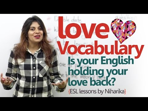English Lesson - Love vocabulary for Valentine's day ( Learn English online for free)