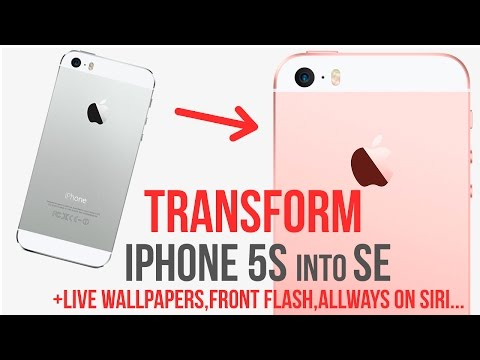 Transform IPhone 5s into SE / add Live Wallpapers / Siri Always On / Front Flash / Jailbreak