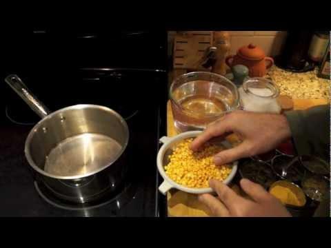 Making Yellow Daal (or Split Pea Daal)