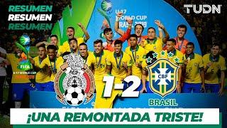 Resumen y Goles   México 1 - 2 Brasil   Mundial Brasil Sub17 - Final   TUDN