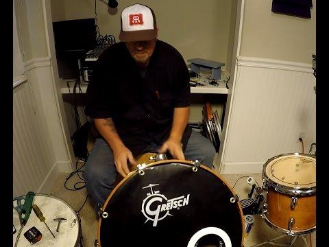 DIY Bass Drum Logo Cover