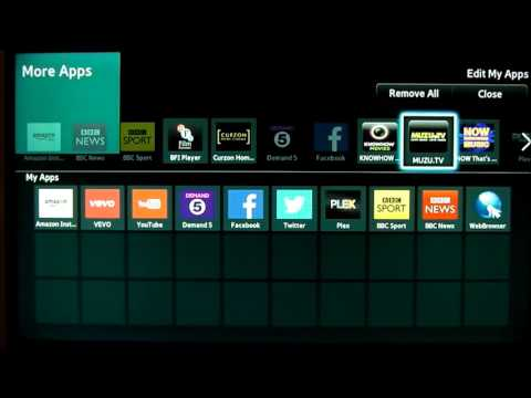 How to move add delete apps on Smarthub of a Samsung Smart TV