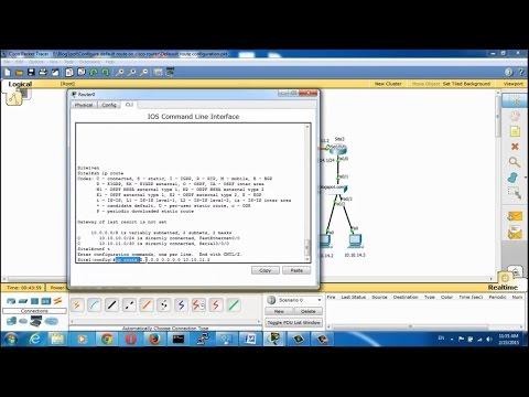 Configure Default routes on cisco routers