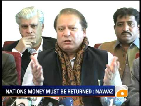 Geo Report-News Summary (PM indicted, Nawaz on indictment,Missing Persons, Kayani)