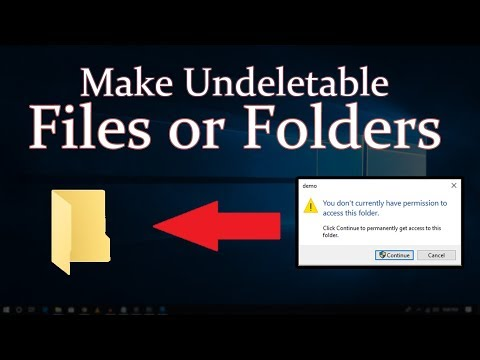 How to Make Undeletable Files or Folders in Windows 10/7/8.1