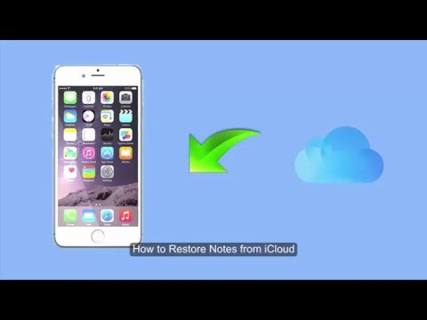 How to Restore Notes from iCloud