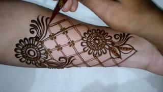 latest mordern bridal henna mehndi design for full hands | 2017