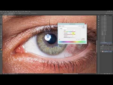 Photoshop : Making Clear Eyes By Removing Red Veins In Eyes