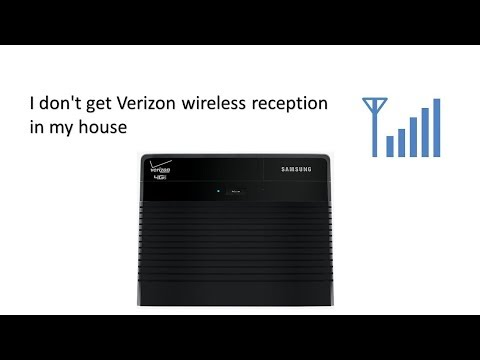 I don't get Verizon wireless reception in my house solved