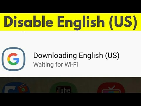 How To Remove/Clear Downloading English (US) Waiting For Wifi & Disable Auto Download-2018