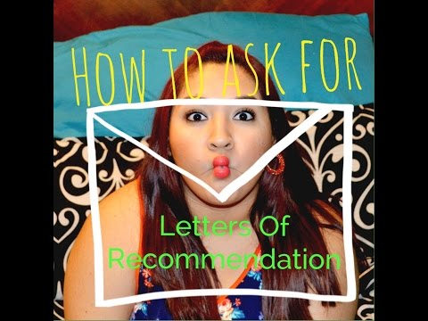 Get PERFECT letters of recommendation