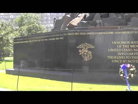 World War II Iwo Jima Memorial on July 4th, 2013 (HD)