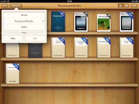 How to change iPad iBooks view to PDF