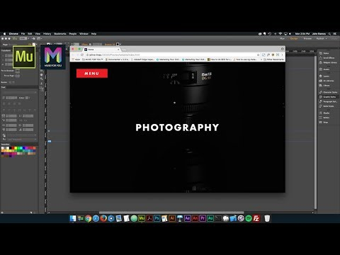 Working with the State Button and BIG Menu Widget | Adobe Muse CC | Muse For You